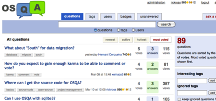 Export your OSQA articles and comments